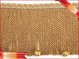 Frange della tenda del poliestere della nappa della decorazione con la nappa in rilievo