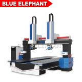 Jinan Blue Elephant nouvelle Machine 1224 routeur CNC 5 axes avec servomoteur Yaskawa