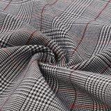 Fils teints de rayonne de tissu de polyester Spandex Plaid