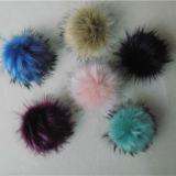 アライグマの毛皮POM Pomsの球100%の実質の球のアライグマの毛皮