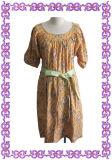 Pistácio Mulheres Grávidas vestido de algodão (estilo 001)