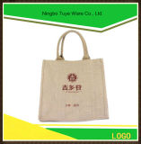 Sacs d'emballage d'achats de jute de sac à main de toile de jute de mode