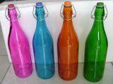 Vin couleur vide dépoli Jus de fruits de l'eau contenant de verre bouteille avec Swing Haut de page