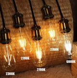 Bombilla de la vendimia de la lámpara E27 LED del bulbo de Dimmable St64 6W Edison con SAA