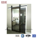 Wood Interior Sliding Frosted Glass pocket Doors