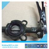 Corpo de ferro fundido DK válvula borboleta tipo wafer com pega ou WORM ENGRENAGEM BCT-DKD71X-9