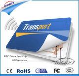 Carte sans contact de PVC IC de blanc sec de la puce RF11FM08