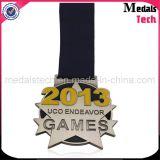 Médaille faite sur commande remplie par couleur multi d'ouvreur de bouteille de marathon de noir de teinture de vente d'usine