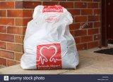 Super Qualidade Vender Sacos de Caridade de plástico quente na caridade a Bolsa de Coleta