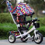 Triciclo quattro del bambino in rotelle 1 con la barra di spinta