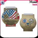 공장 판매 염료 검정 다중 색깔에 의하여 채워지는 주문 마라톤 병따개 메달