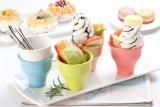 100% de vajillas de melamina- Cono Ice-Cream/ colorida /Belleza/100% de vajilla de melamina (QQB34).
