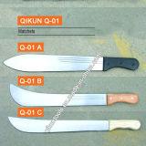 Matchet ручки деревянной ручки Q-01 пластичный