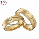 Nueva venda de boda del anillo de compromiso del oro de la manera para los pares románticos del amor