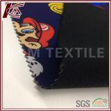 Ткань Softshell ватки печати 100d картины Марио микро-
