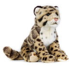 Juguete relleno aduana de la felpa del leopardo
