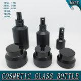 La bottiglia di vetro cosmetica di Guangzhou che impacca lo spruzzo di vetro della spalla di inclinazione del nero del Matt imbottiglia i vasi crema