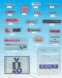Corrección tejida escritura de la etiqueta de la ropa de China para el hierro en la ropa - corrección tejida China, escritura de la etiqueta de la ropa