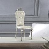 Modren Form-Leder-Edelstahl-Rahmen-Stuhl für Hochzeitsfest/Bankett/Gaststätte