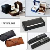 Boîte de plume en cuir cas parfum coffret à bijoux boîte Boîte de verres (LRP11)