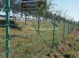Колючая проволока загородки фабрики высокая растяжимая