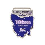 Demi-marathon personnalisé 5K 10K le vecteur de Texture gagnant de la médaille de cuivre