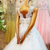 2017年のV首ライン水晶花嫁のウェディングドレスRfl1702