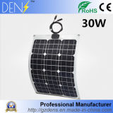 30W 12V Monocrystalline Flexibele Zonnepaneel van het Silicium