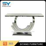 Mobiliário moderno corredor de Aço Inoxidável Espelho de mesa Mesa Console