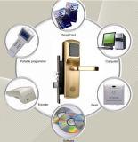 Verrouillage de porte RF en cuivre ouvert par carte et clé mécanique