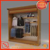 Veste roupas de rack de retalho de madeira mobiliário de exibição para recordações