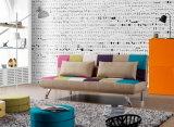 美しい居間のためのファブリックによって折られるソファーベッド