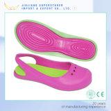 Сандалии ЕВА женщины, просто сандалии PVC цвета