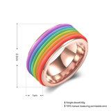 As Mulheres de Aço Inoxidável folheados coloridos de forma de anel de Ouro