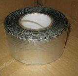 Cinta subterráneo del abrigo del tubo de la anticorrosión del PE de aluminio butílico del polietileno, el PE que envuelve la cinta que contellea del conducto adhesivo