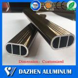 타원형 옷장 양극 처리하는을%s 가진 거는 관 알루미늄 알루미늄 밀어남 단면도