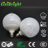 Ce / RoHS Aluminium en plastique E27 G120 18W LED Global Lights