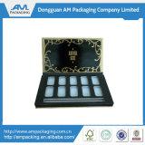 Fancy Packaging Makeup Shadow Box Atacado paleta preta com espelho