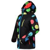 Красочной печати моды женщин лыжные куртка с капота