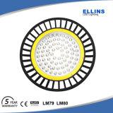 Dispositivo ligero de 130lm/W LED bahía brillante estupenda del UFO de la alta