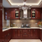 Meubles de cuisine personnalisé des armoires de cuisine en bois solides classique