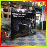 Étalage en aluminium portatif d'exposition de salon de stand de cabine de Slatwall de tissu fait sur commande