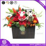 Schwarze umfangreiche Blumen-Verschiffen-Papperstklassiger kundenspezifischer Fessel-Blumen-Kasten