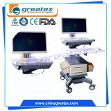"""병원 휴대용 퍼스널 컴퓨터 15 ' '17 """"를 위한 이동할 수 있는 의학 워크 스테이션 트롤리 (GT-WT01)"""