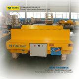 Carro de aço de transferência do trilho da tabela para o movimento das cargas pesadas
