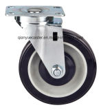 Roulette PU / PVC à usage moyen 75 mm