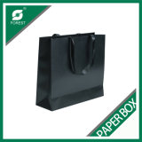 Negro bolsa de papel con la impresión al por mayor de Logo