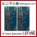 PWB azul da placa de circuito da máscara OSP da solda 6layers