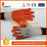 Le coton 2017 de Ddsafety a tricoté avec les gants oranges de latex
