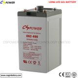 Batería profunda Cg2-400 de la batería 2V 400ah del gel del ciclo de Cspower